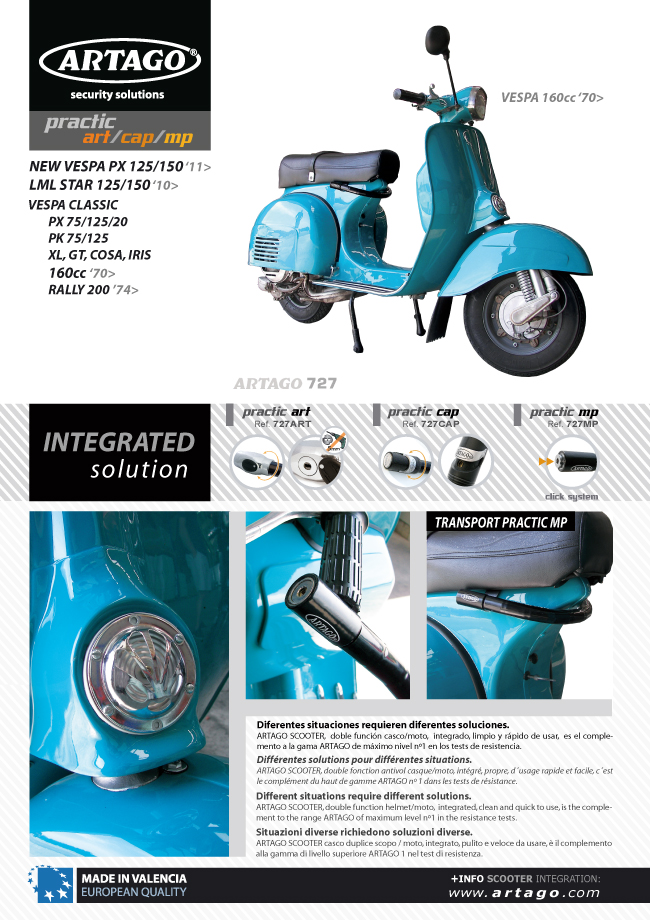 Candado Antirrobo para Manillar PRACTIC Suzuki Sixteen 125//150 08 URBAN